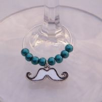 Moustache Wine Glass Charms
